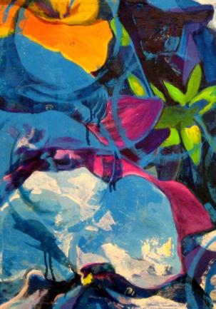 4 fiori blu
