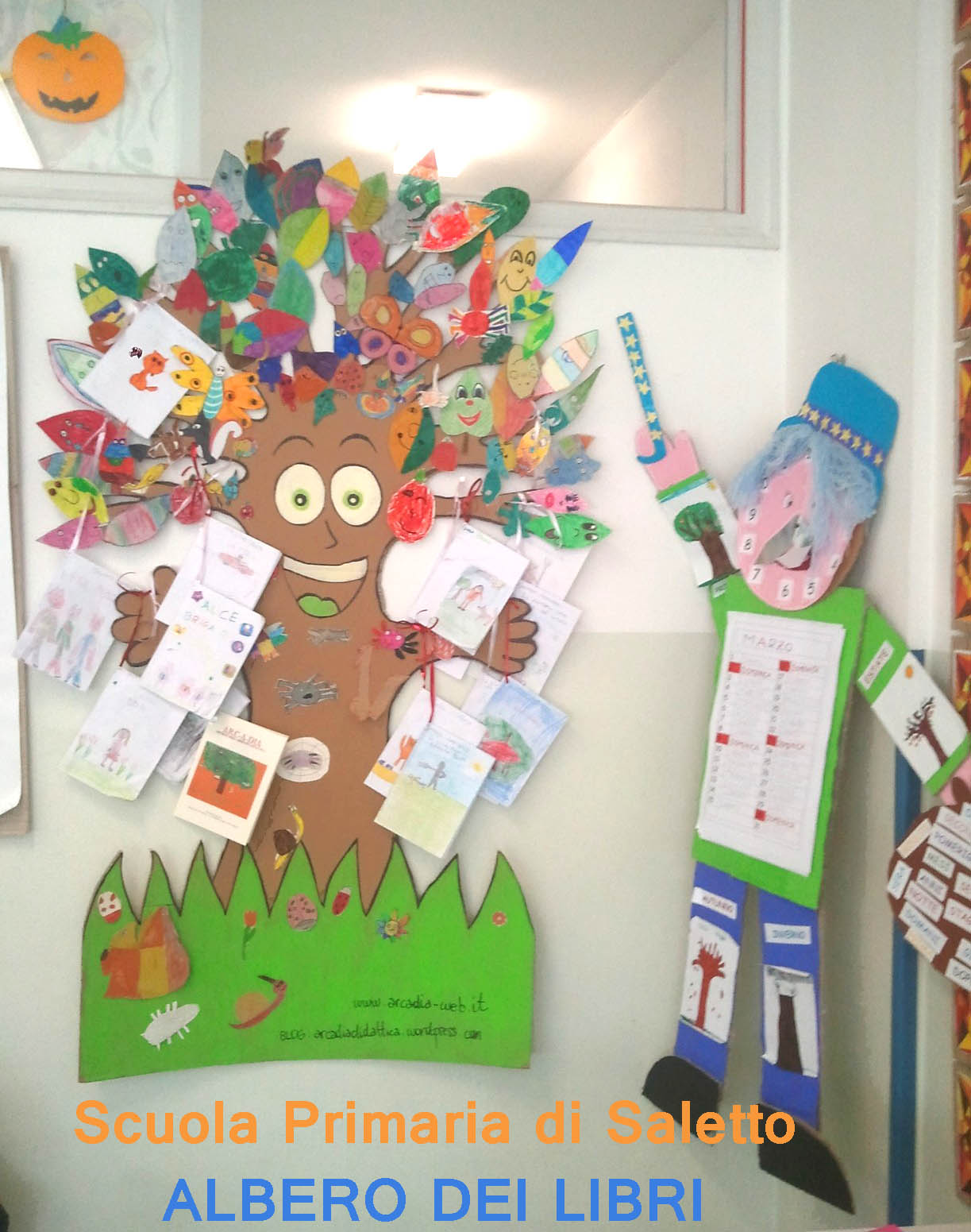 L albero dei libri alla scuola primaria di saletto for Libri scuola