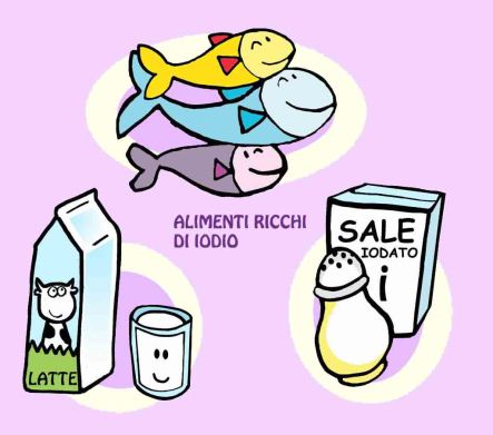 Alimenti ricchi di iodio illustrazione Teri Lid alias Maria Teresa Terry Santinato