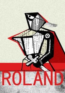 Teri Lid terilid caffettiera collage Roland illustrazione di Teri Lid
