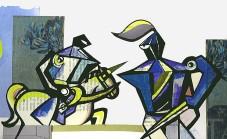 Torneo dei cavalieri illustrazione di Teri Lid