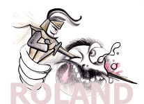 Roland against the Giant illustration by Teri Lid