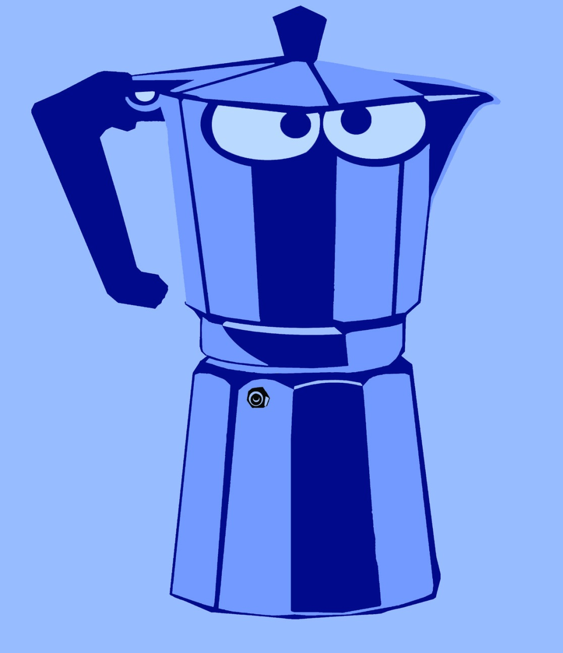 Blue Moka caffettiera blu Teri Lid