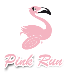 Pink Run logo illustrazione design by Teri Lid Maria Teresa Terry Santinato