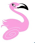 Pink Run Pink Flamingo by Teri Lid Pink Run by Teri Lid