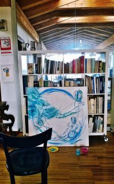 Blue flowers Teri Lid work in progress