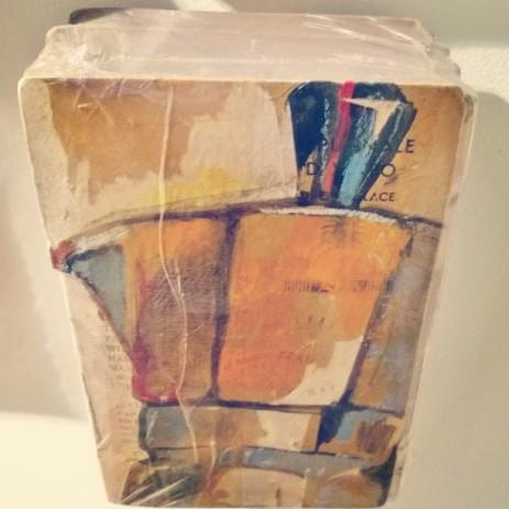 Teri Lid orange moka frame book bialetti