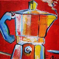Teri Lid terilid Maria teresa Santinato Terry caffettiera coffee pot moka Una storia semplice Sciascia Red coffee pot Teri Lid painting