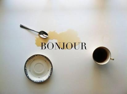bonjour café buongiorno caffè tazza cucchiaino macchia di caffè