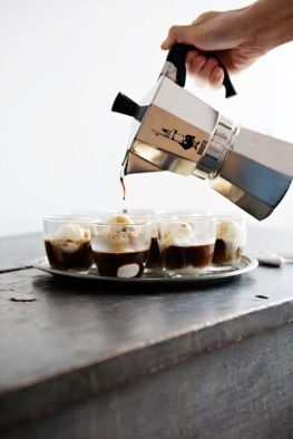 Ice cream coffee affogato Bialetti Moka