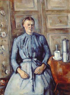 Paul Cezanne woman and coffee pot donna con caffettiera