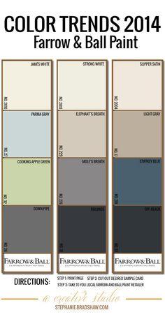 Farrow & Ball palette 2014