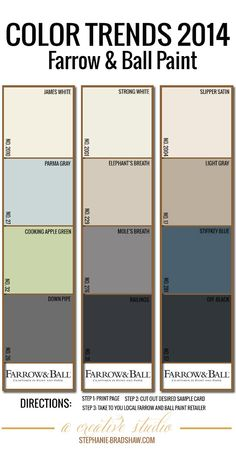 Farrow & Ball palette 2014