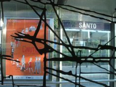 Teri Lid Teatro De Linutile Poster stagione teatrale arancione orange Santo tram stop