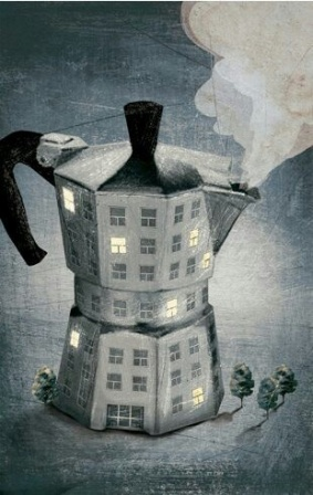 Coffee pot surrealism unknown artist Teri Lid blog
