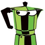 teri lid green moka caffettiere coffeepot coffee